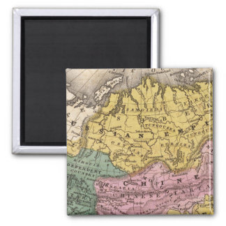 Map of Asia 2 Inch Square Magnet