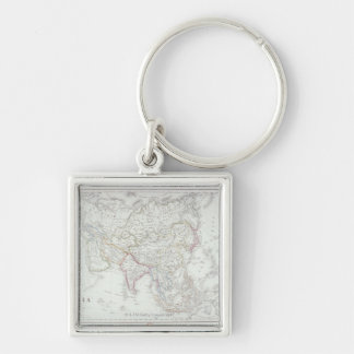 Map of Asia 2 Keychain