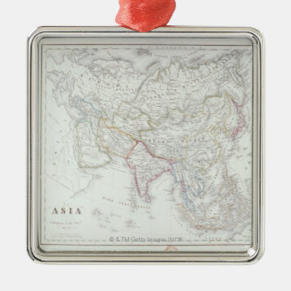 Map of Asia 2 Metal Ornament