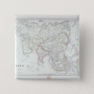 Map of Asia 2 Pinback Button