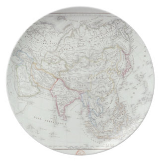 Map of Asia 2 Party Plates
