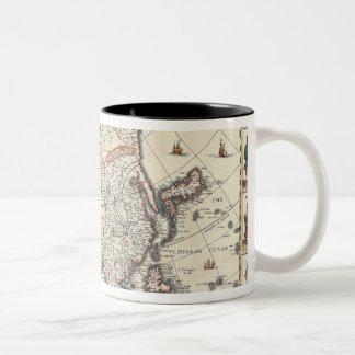 Map of Asia 3 Two-Tone Coffee Mug