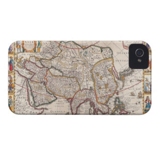 Map of Asia 4 Case-Mate iPhone 4 Case