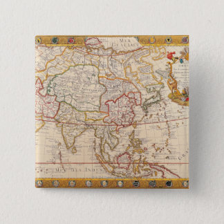 Map of Asia 5 Button