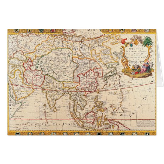 Map of Asia 5 Card