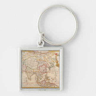 Map of Asia 5 Keychain