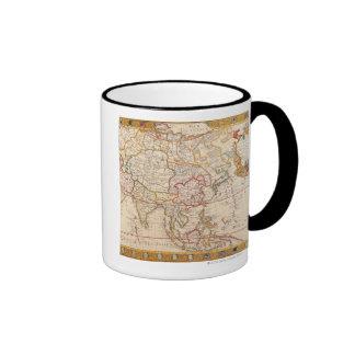 Map of Asia 5 Mugs