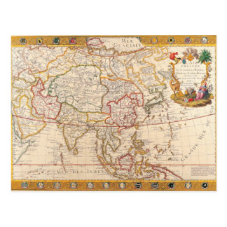 Map of Asia 5 Postcard