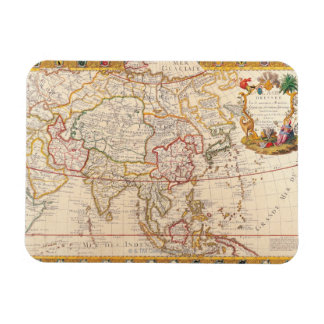 Map of Asia 5 Magnet