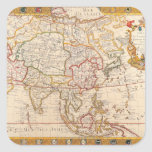 Map of Asia 5 Square Sticker