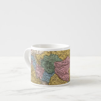 Map of Asia 6 Oz Ceramic Espresso Cup