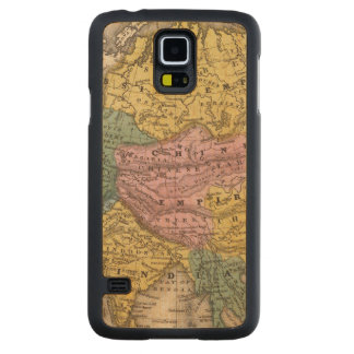 Map of Asia Carved® Maple Galaxy S5 Case