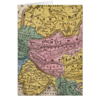 Map of Asia Greeting Card