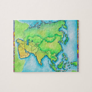 Map of Asia Jigsaw Puzzle