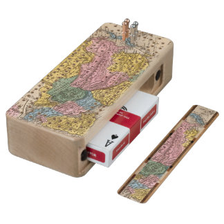 Map of Asia Maple Cribbage Board