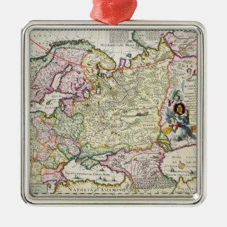 Map of Asia Minor Metal Ornament