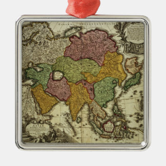 Map of Asia, Nuremberg, c.1730 Metal Ornament
