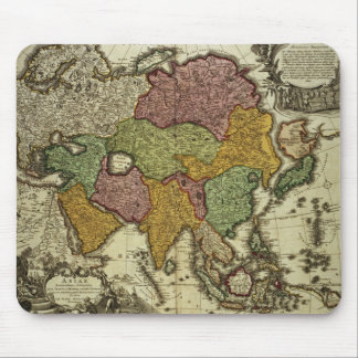 Map of Asia, Nuremberg, c.1730 Mouse Pad