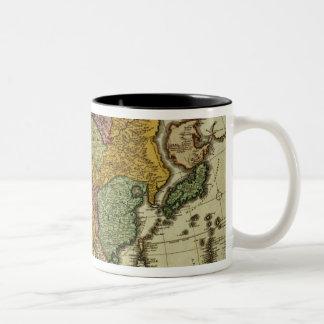 Map of Asia, Nuremberg, c.1730 Two-Tone Coffee Mug