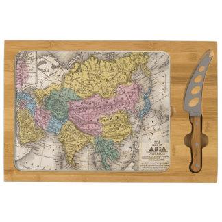 Map of Asia Rectangular Cheeseboard