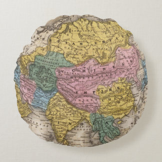 Map of Asia Round Pillow