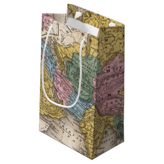 Map of Asia Small Gift Bag