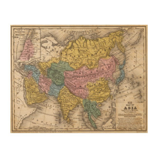 Map of Asia Wood Wall Art