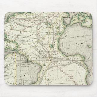 Map of Atlantic Ocean Mouse Pad