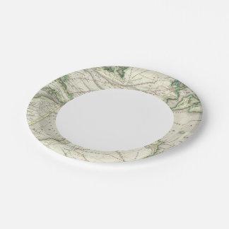 Map of Atlantic Ocean Paper Plate