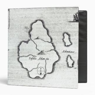 Map of Atlantis, from 'Mundus Subterraneus' 3 Ring Binder