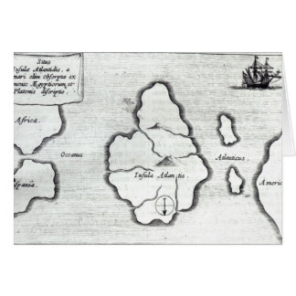 Map of Atlantis, from 'Mundus Subterraneus' Card