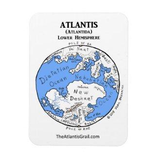 Map of Atlantis - Lower Hemisphere - Magnet 2
