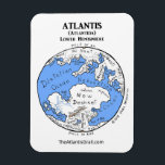 """Map of Atlantis - Lower Hemisphere - Magnet 2<br><div class=""""desc"""">Great fridge magnet! Explore the mysterious home world of Aeson Kassiopei in this Map of planet Atlantis (Lower Hemisphere) inspired by The Atlantis Grail science fiction series by Vera Nazarian. Be sure to get the magnet with other hemisphere too!</div>"""