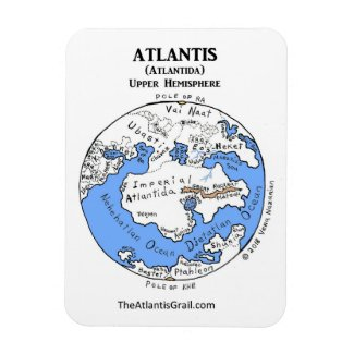 Map of Atlantis - Upper Hemisphere - Magnet 1