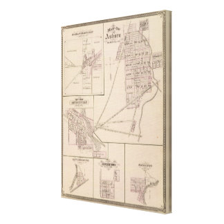Map of Auburn, De Kalb Co Canvas Print