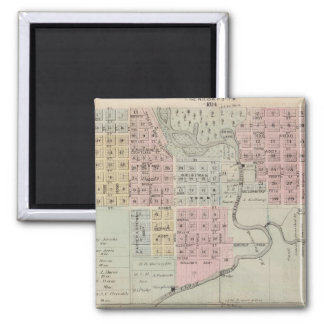 Map of Austin, Mower County, Minnesota Magnet