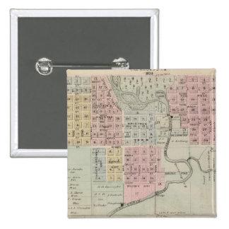 Map of Austin, Mower County, Minnesota Pinback Button