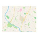 Map of Austin, Texas Postcards
