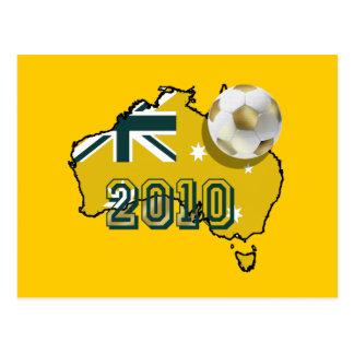 Map of Australia 2010 soccer ball gift ideas Postcard