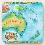 Map of Australia 2 Drink Coasters