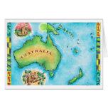 Map of Australia 2 Greeting Card