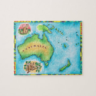 Map Of Australia Jigsaw Puzzle.Map Of Australia 2 Jigsaw Puzzle
