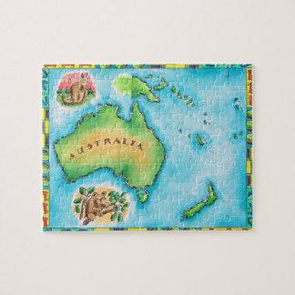 Map of Australia 2 Jigsaw Puzzle
