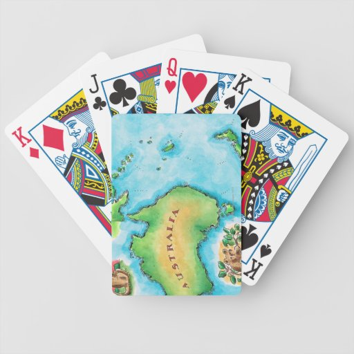 Map of Australia Bicycle Playing Cards