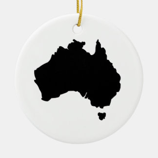 Map of Australia Ceramic Ornament