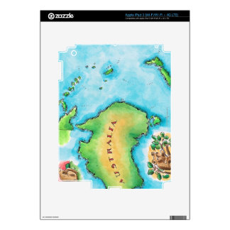 Map of Australia Decal For iPad 3