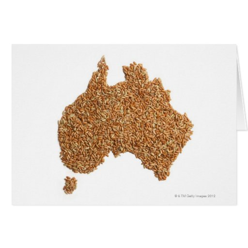 Map of Australia made of Glutinous Rice Greeting Card