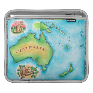 Map of Australia Sleeves For iPads