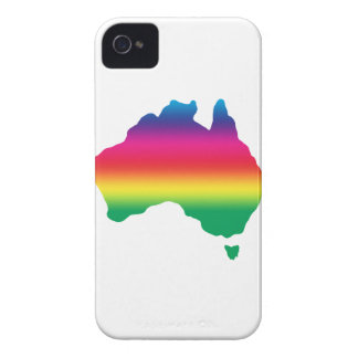 Map of Australian filled with rainbow colours iPhone 4 Case-Mate Case