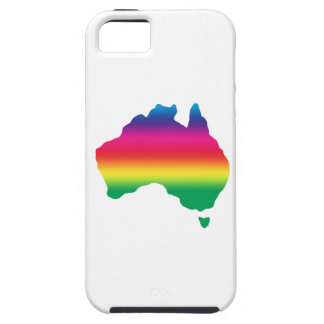 Map of Australian filled with rainbow colours iPhone SE/5/5s Case